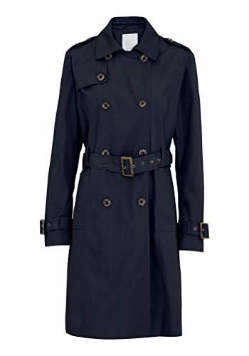 SOYACONCEPT - Leichter Damen Mantel/Trenchcoat Gürtel, SC-Lora 5 (16391), Größe:M, Farbe:Navy (6910)
