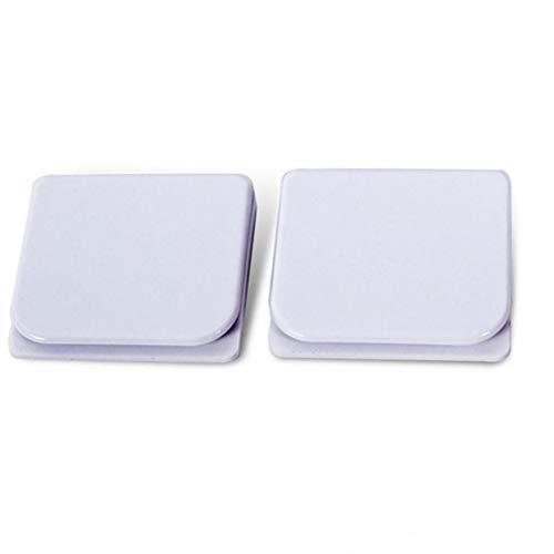 Neue 2-teilig 5,0 * 4,5 cm Duschvorhang Clips Anti Spill Wasser Hochwertige WC-Schutz Duschvorhang Ringe Tropfen