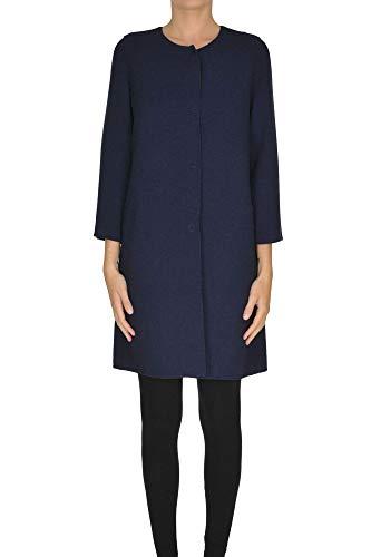 Luxury Fashion | Nenè Milano Dames MCGLCSC0000B7016E Donkerblauw Wol Mantels | Seizoen Outlet