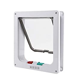 CSDY-Microchip Cat Flap, Convenient, Original 2 Way Pet Door, Fast Installation, Easy Fitting, 2 Way Locking, Cat Flap for All Pets