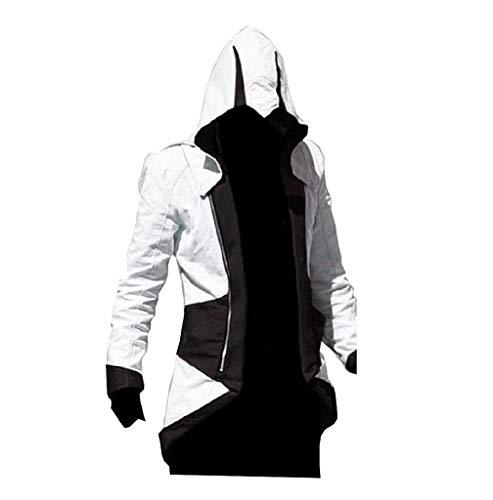 EVRYLON Jacken-Credo des Killer-Karnevals-Mannes schwarz-weiß größe XXL Cosplay