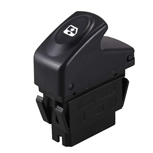 Yuquanxin Interruptor De Control De Elevación De La Ventana De Energía Eléctrica 6 Pin 7700838101 para Kangoo 1997-2014 Durable (Color : Black)