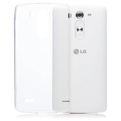 LG G3 MINI   iCues ultra delgado claro del caso de TPU   luz extra transparente lámina protectora Caso muy delgada de piel Claro Claro gel de silicona transparente de protección [protector de pantalla, incluyendo] Cubierta Cubierta Funda Carcasa Bolsa Cover Case