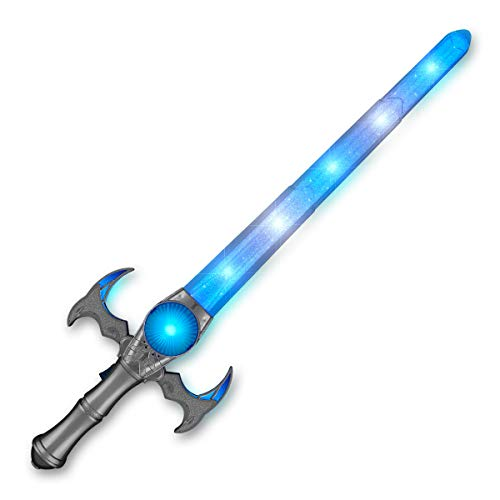 Light Up Medieval Toy Sword with ICY Blue & White LED Lights