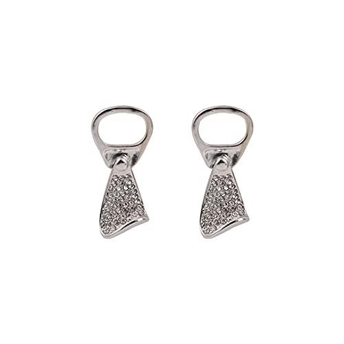 s925 aguja de plata puede tirar pendientes de anillo pendientes pendientes de temperamento femenino