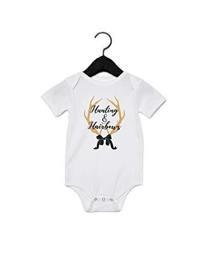 Promini Kids Hunting & Hairbours - Body para bebé, color blanco Blanco blanco 9 mes