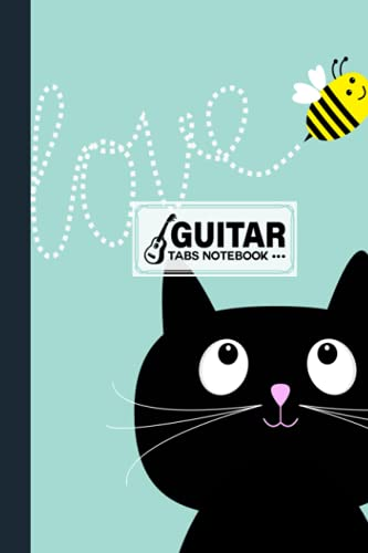 Guitar Tab Notebook: Black Cats Cover Guitar Tab Notebook, Music Paper Notebook, Blank Guitar Tablature Music Note, 120 Pages - Size 6