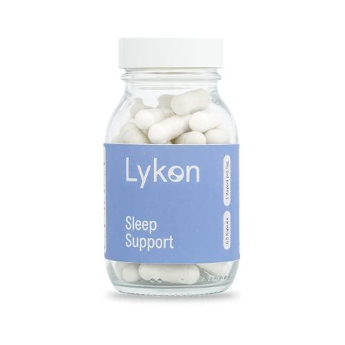 Sleep Support von Lykon I Premium Kapseln für schnelles einschlafen I Mit Melatonin, L-Tryptophan, Griffonia Samen- sowie Passionsblumen-Extrakt