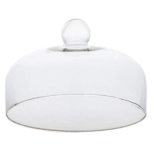 XZG-Geschirr Steak Teller 13/16/18/21/23/24/26 / 28cm Glasdeckel, Transparent Falafel Dome Donut Dome Home Küche Essen Schutzdeckel Salat Platte (Size : 16 * 16 * 7.5CM)