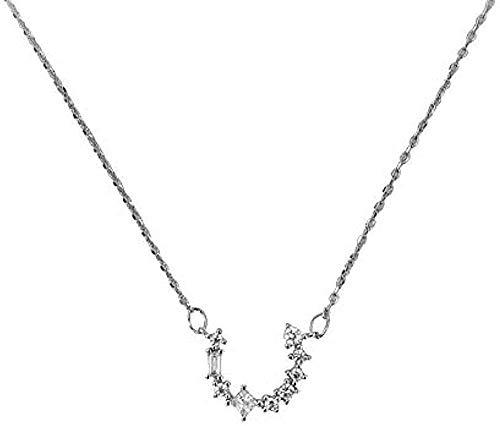Yiffshunl Collar Mujer Collar Hombres Mujeres Collar pequeño Collar de Herradura Simple Encanto Colgante Collar niñas niños Regalo