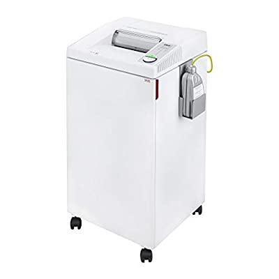 ideal. 2604 Continuous Operation Cross Cut Centralized Office Paper, Staple, Paper Clip, CD, DVD Shredder with Automatic Oiler by