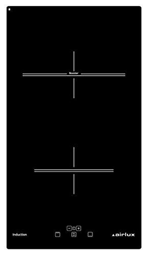 Airlux ATI322BK plaque Noir Intégré Plaque avec zone à induction - Plaques (Noir, Intégré, Plaque avec zone à induction, Verre-céramique, 1400 W, 17 cm)