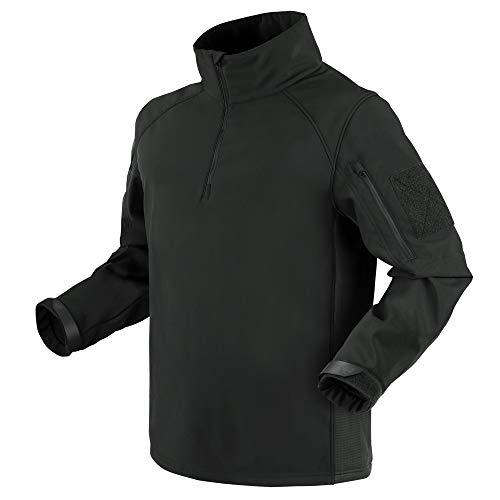 Condor Herren Patrol 1/4 Zip Soft Shell Jacke Schwarz Größe M
