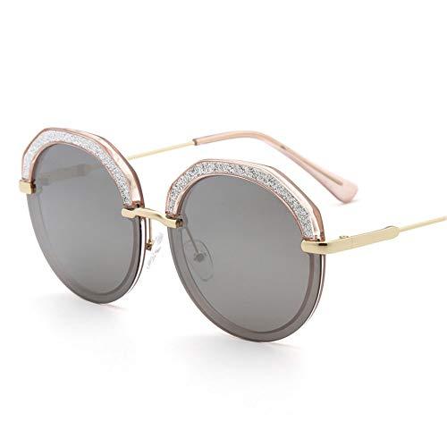 LDH Gafas De Sol Polarizadas para Hombres, Gafas De Sol De Alta Definición De Medio Marco, Gafas De Sol De Moda con Cristales, Protección UVA Y UVB