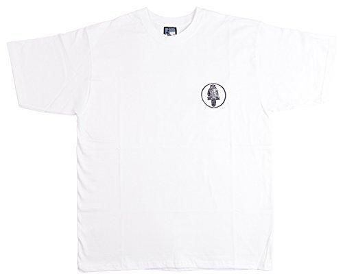 Viejo Escuela Fútbol Leeds United Retro Búho Camiseta de fútbol, Hombre, Color Blanco, tamaño XXX-Large