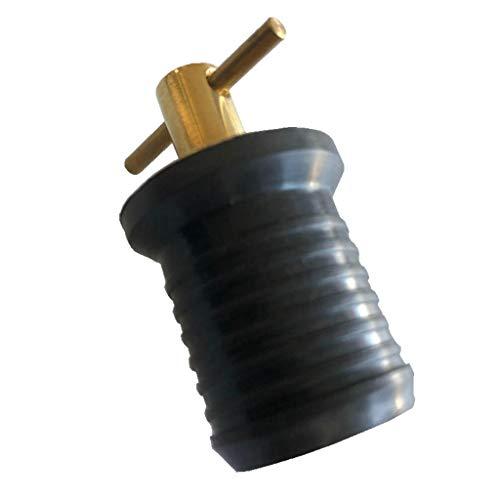 Baosity Plugue de drenagem de latão tipo torção para barco resfriadores marítimos Hulls Marine Turn-Tite Twist Expansível Tampão de drenagem de borracha com vedação de neoprene