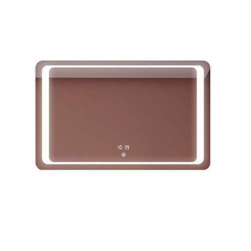 DERUKK-TY Artículos para el hogar y espejo sin niebla, espejo iluminado para maquillaje con luces LED brillantes para colgar en la pared, espejo de baño (color: F) (color: E)