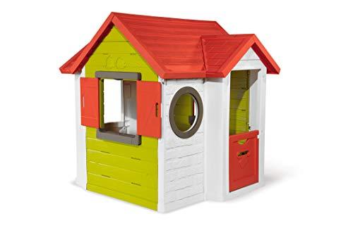 Smoby 810404 - Mein Neo Haus - Spielhaus für Kinder für drinnen und draußen, erweiterbar durch Zubehör, Gartenhaus für Jungen und Mädchen ab 2 Jahren
