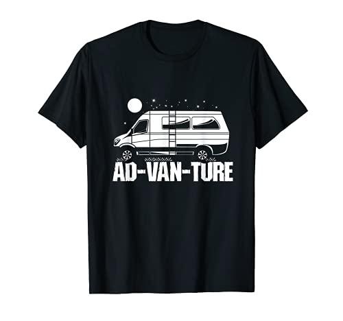 Funny Camper Van Life - Vanlife Ad-Van-Ture T-Shirt