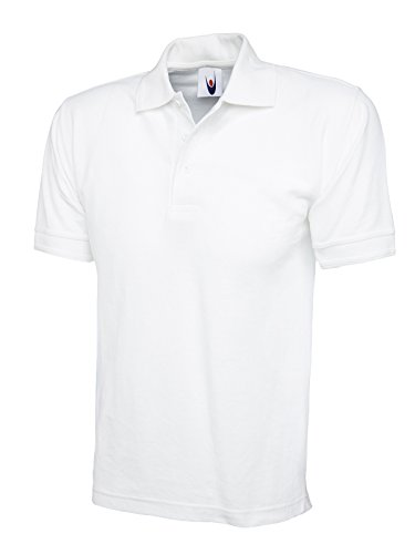 UC104 - White - Large - 250GSM Ultimate Poloshirt