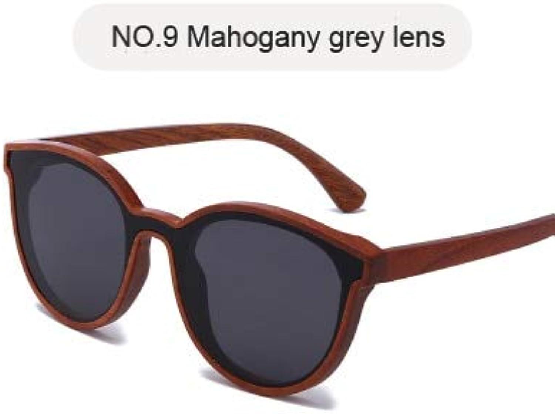 New Design Wood Sunglasses for Women Men  (Lenses color  NO.9, Frame color  only Sunglasses)