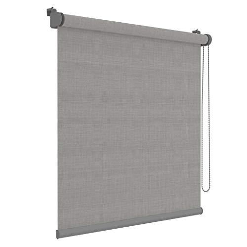 DECOSOL Rollo Mini Grau 72x190 cm Fensterrollo Jalousie Klemmfix Sonnenschutz