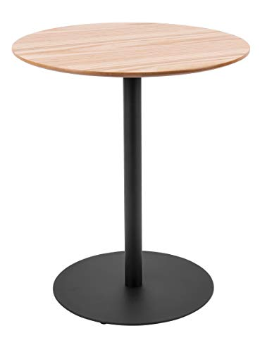 Present Time - Table d'appoint Bois de chêne et métal Dot Ø40 cm