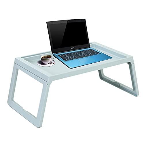 HYYYH Escritorio para computadora portátil Bandeja de Mesa Plegable para Cama de Regazo para desayunar, Leer Libros, Ver películas en la Cama, sofá (Color : Blue, Size : 54.5 * 35.8cm)