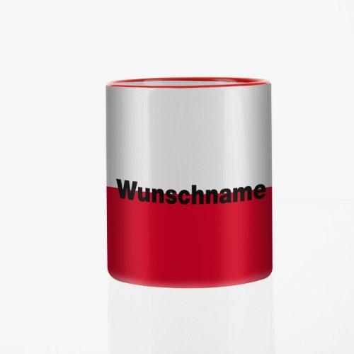Herz & Heim® Tasse mit Wunschnamen und Flagge - Polen -