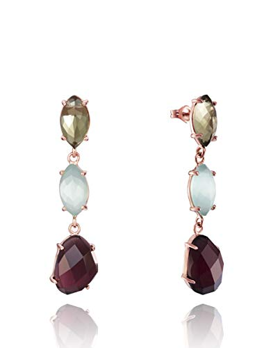 Pendientes Viceroy Jewels. Plata Rose. Piedras Colores.