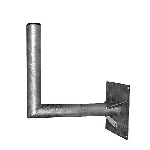 A.S.Sat 26060 wandhouder thermisch verzinkt staal 60 cm wandafstand 60 mm houderbuis met steun voor sat-antennes 150 cm