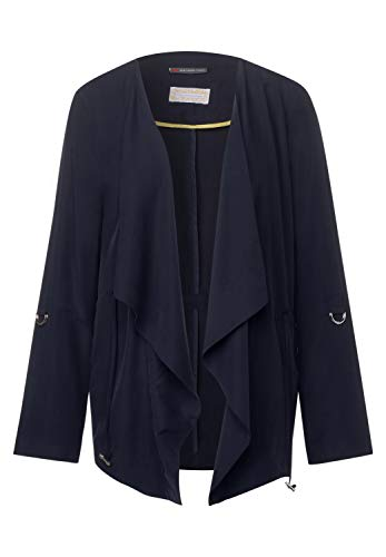 Street One Damen Blusenjacke im Open Style deep Blue 42
