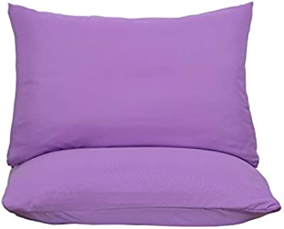 JUWENIN,Pillowcases Set of 4 Envelope Closure End 1500 Thread Count Super Soft and Breathable - Envelope Closure End (Purple, Queen)