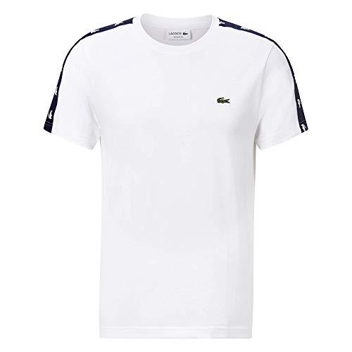 Lacoste TH5172 Camiseta, Blanc/Marine, XXL para Hombre