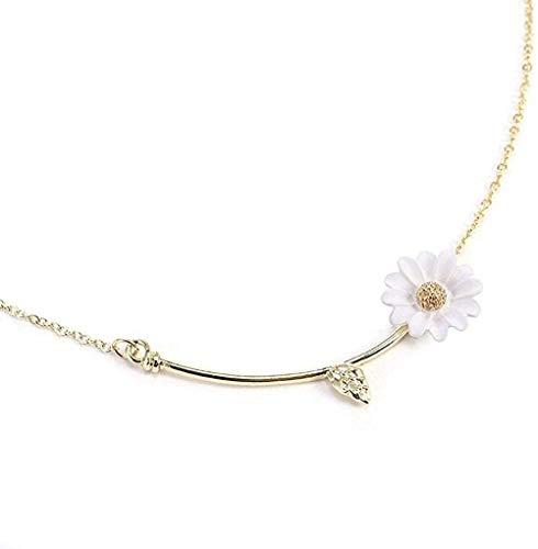 BACKZY MXJP Necklace Charm Daisy Leaf Flower Pendant Necklace Choker Chain Lady Women Jewelry Summer Jewelry Accessories