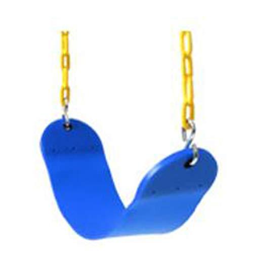 Gxzdfdztygh Asiento de Columpio-Asiento de jardín para niños, EVA Swing combinación Exterior Swing, Carga 100 kg, Apto para niños Mayores de 3 años. (Color : Blue)