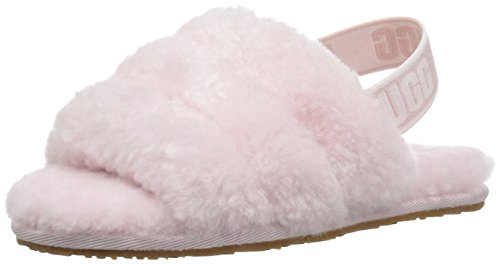 UGG Girls' T Fluff Yeah Slide Sandal, seashell pink, 8 M US Toddler