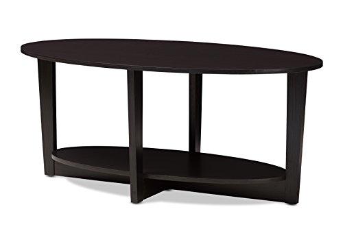 Baxton Studio Bleckede Coffee Table, Wenge Dark Brown