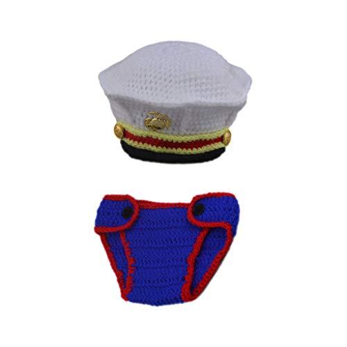 S-TROUBLE Accesorios de fotografía de Ganchillo para bebés Foto recién Nacida Disfraces de niño Fresco Ropa Infantil