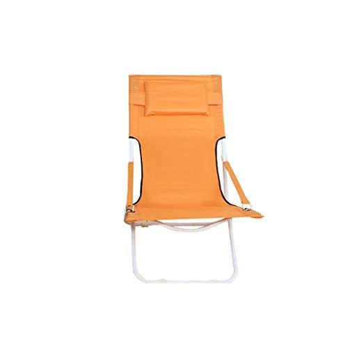 luyiyi Silla Plegable Lazy Lunch Lunch Chair Balcón Sillón reclinable Lounge (Color : Orange)
