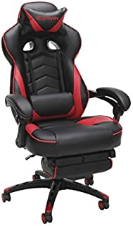 RESPAWN 110 Racing Style Gaming Chair, Reclining Ergonomic Leather Chair with Footrest, in Red