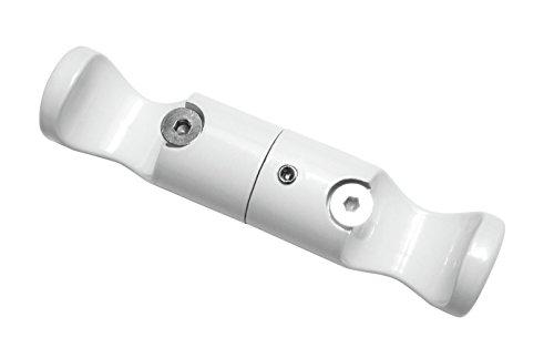 GARDINIA Deckenträger Adapter für Gardinenstangen, 2-läufig, Offen, Alle Montage-Teile inklusive, Durchmesser 20 mm, Weiß