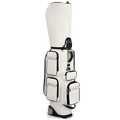 HRRF Llevar Bolsas de Golf Bolso de Golf Estándar de Las señoras con Ruedas PU Retractable Maleta de Golf Maleta de Golf para Hombres Mujeres (Tamaño: 87x40cm)