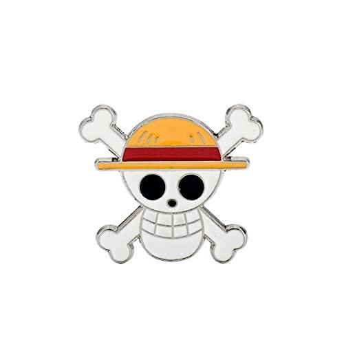 Générique Pin's Broche One Piece - Logo Luffy Equipage du Chapeau de Paille - Métal Email