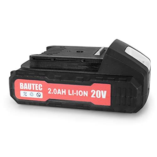 Batteria agli ioni di litio da 2,0 Ah 20 V per la pistola a batteria Bautec e l'avvitatore a batteria Bautec
