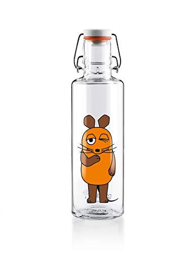 soulbottles 0,6l • Die Maus • Trinkflasche aus Glas • nachhaltig, plastikfrei, klimaneutral