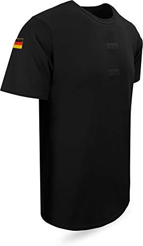 normani Bundeswehr Tropen T-Shirt Unterhemd Khaki mit Hoheitsabzeichen Farbe Schwarz Größe 8