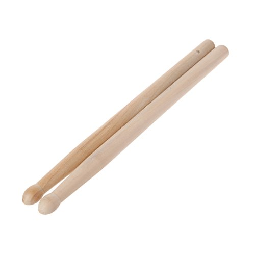 JOYKK 2 Stück Holz Drumsticks mit glatten Drumsticks für Anfänger für Anfänger - Farbe Holz
