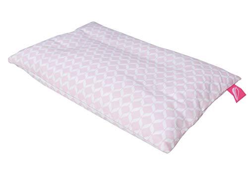 Babykopfkissen Kinderkopfkissen 35x40cm -Öko Tex Standard 100 - inkl. abnehmbarem Bezug aus 100% Baumwolle - rosa classics
