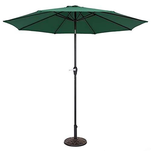 Articles ménagers Parasol Parasol Parasol de jardin Parapluie de table d'extérieur avec 8 nervures robustes, Parasols de jardin avec manivelle pour terrasse arrière (Color : Green)